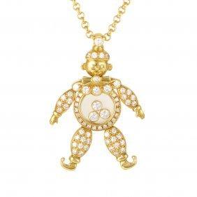 Chopard Happy Diamonds 18k Yellow Gold Diamond Pave