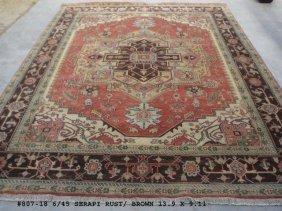 10x14 Handmade Heriz Design Serapi Rug