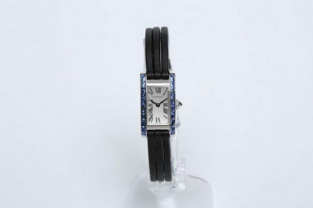 2009 18k White Gold & Sapphires Boutique Cartier Watch