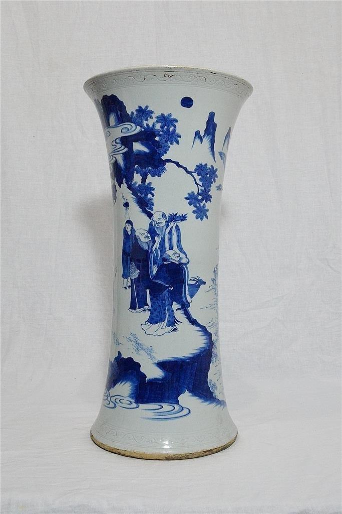 Chinese Blue and White Porcelain Beaker Vase