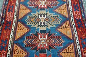 Rich And Lively Colored Hand Woven Persian Sarab Runner