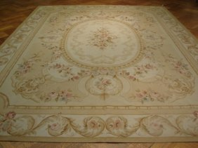 European Design 12'x9' Aubusson Weave Carpet