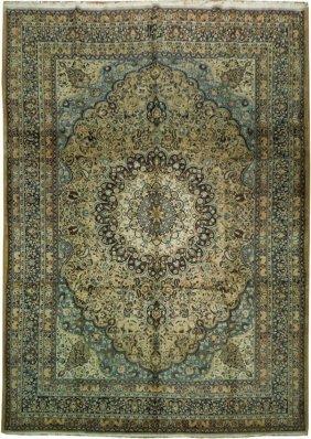 Large Size 15'x11' Signed Persian Khorasan Carpet