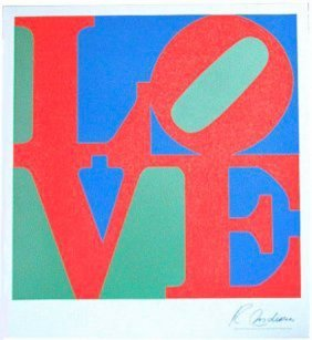 Robert Indiana Love 1977