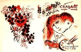 Marc Chagall (1887 - 1985) Lithograph Iii (1966)