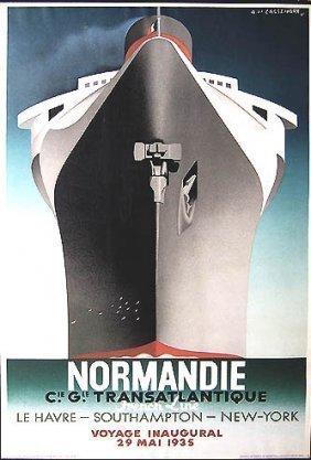 Cassandre Normandie 1st Repro Lithgraph 1979