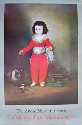 Francisco De Goya Vintage Metroplitan Useum 1980's