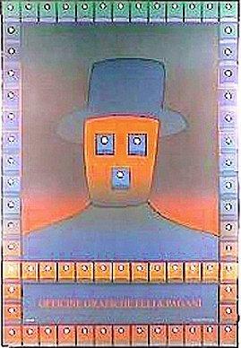 """Folon Officine""""graphche Elli & Pagani, Rare Poster 1978"""