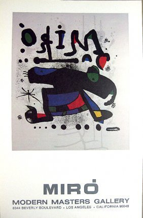 Miro And Vasarely Modern Masters 2 Posters Sale