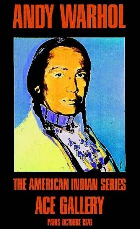 """Andy Warhol, """"american Indian"""". Russel Means,"""
