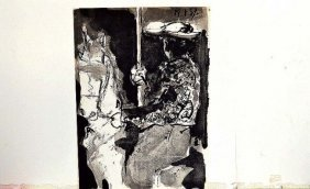 """Picasso """"man On Bull""""etching Litho Printed By Mourlot"""
