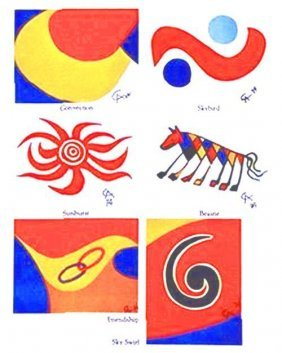 Calder Braniff Complete Set Of 6 Litho