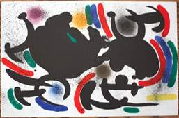 Miro Lithograph Double Page from Book 1 # Vii Mint