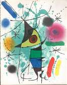 Miro Lithograph One Page9. 5 X12. 5 from Book 1 # Xi