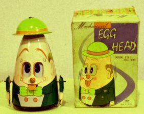 Mechanical Egg Head And Moving Eyes