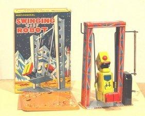 Mechanical Swinging Baby Robot Super Rare In Box