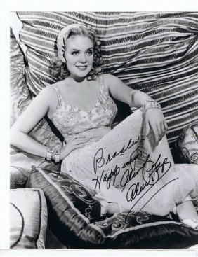 Alice Faye - 8x10 Photo W/ Certificate