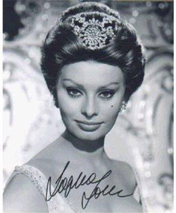 Sophia Loren - 8x10 Photo W/ Certificate