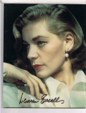 Lauren Bacall - 8 X 10 Photo W/ Certificate