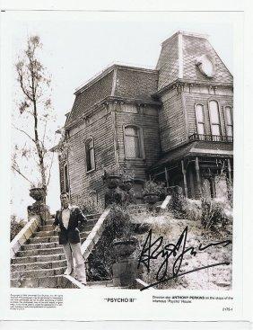"Anthony Perkins ""psycho""- 8 X 10 Photo W/ Certificate"