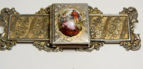 Victorian Era French Locket Brooch Period Victorian