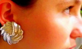 Taxco Sterling Silver Mexican Modernist Earrings