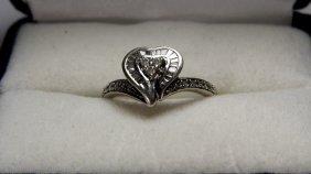 1/20 Platinum Vermeille Sterling Silver & Diamonds