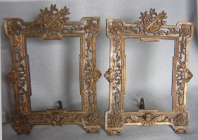 Antique Victorian Picture Frames, Cherub Angels Roses