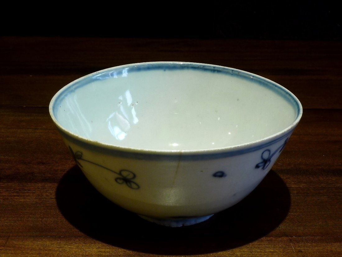 Ming Period 17th Century / Blue & White Bowl Withbird