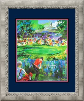 Leroy Neiman Golf Lithograph Westchester Classic Hand