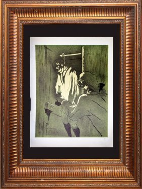 Toulouse Lautrec. Original Lithograph Printed By