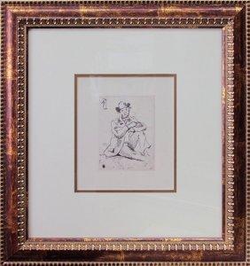 Original Etching By Renoir