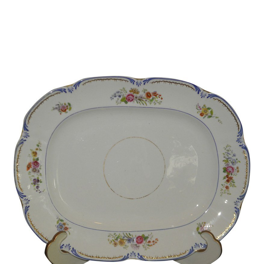 Early Antique English Porcelain Serving Platter from