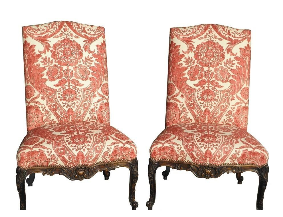 Pair of Huge Antique Carved Italian Renaissance Chairs