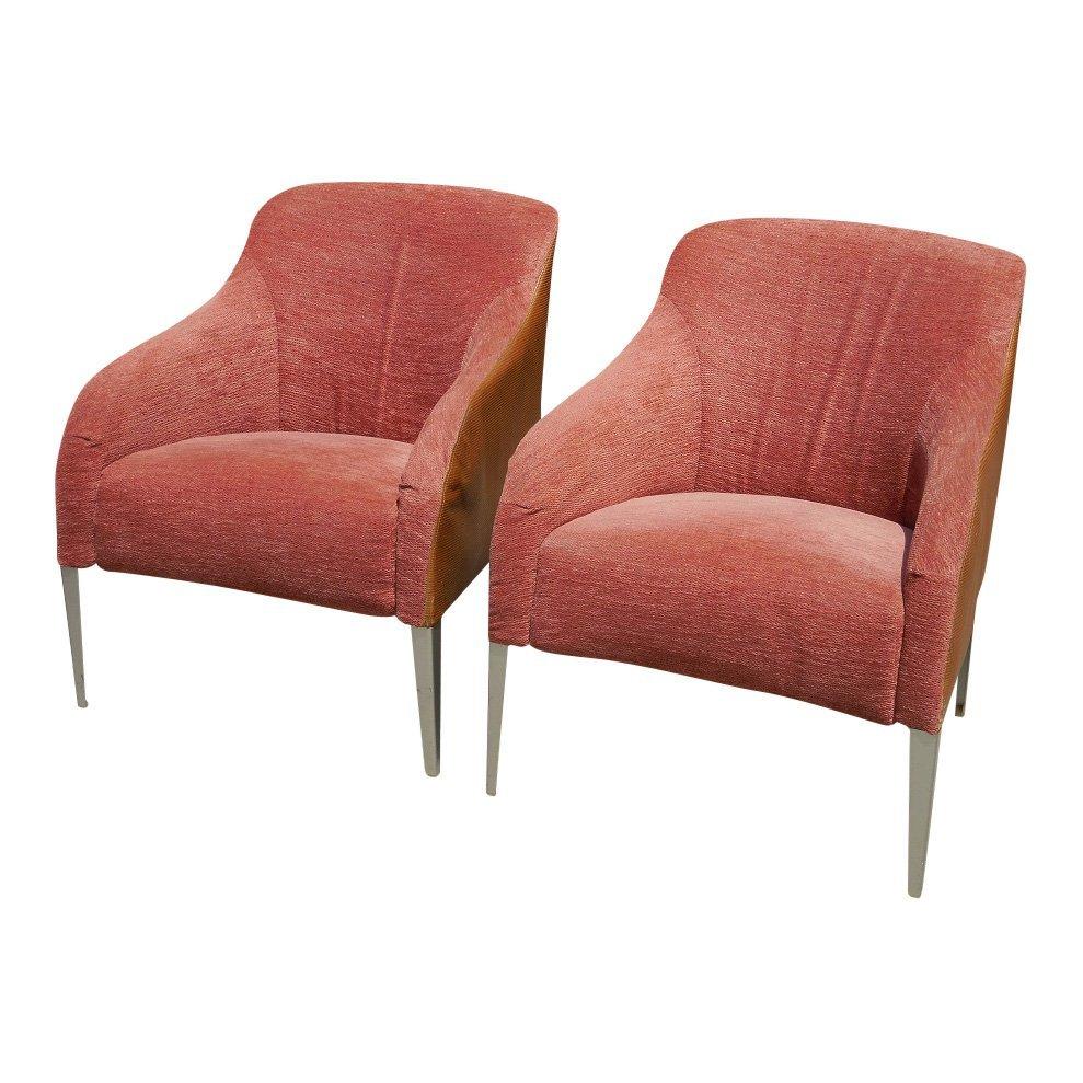 Pair of Superb B & B Italia Designer Arm Chairs Rose &