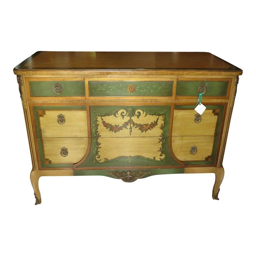 Unusual Antique John Breuner Furniture Company Painted