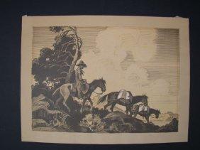 Tillman Goodan 1896-1958: Cowboy Litho P283