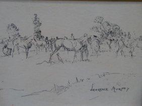 "Lawrence Murphy ""horses"" Litho P1010"