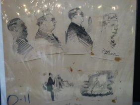 Charles Owens Buick Dealer Conventioneers Sketches P983