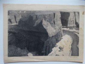 Conrad Buff Canyon Drawing Bw004