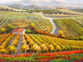 The Vineyard, Oil Painting By B. Paske