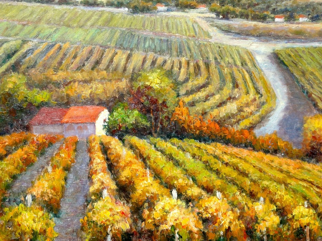 The Vineyard, Oil Painting by B. Paske - 3