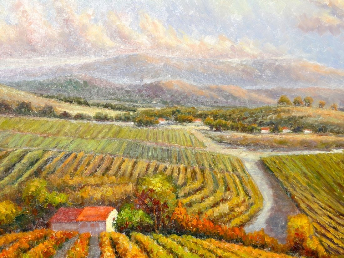 The Vineyard, Oil Painting by B. Paske - 4