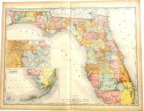 Map Of Florida & Keys, 1892