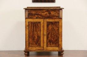 Grain Painted Pine 1880 Antique Commode Or Bonnet Box