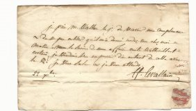 1794 Folded Letter To Ny Attorney