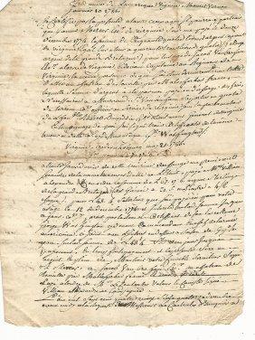 1786 French Document Mount Vernon George Washington