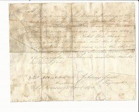 1864 Civil War Manuscript Uss Kearsage Sinking Of Csa