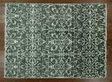 8'x10' Hand Knotted Wool & Silk Rug W1047 Oriental
