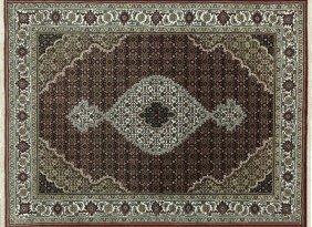 Oriental Hand Knotted 5'x7' Wool & Silk Tabriz Rug